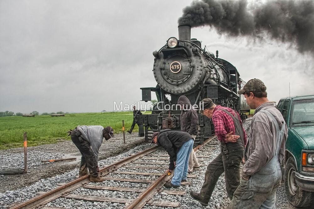 Strasburg Railway - New Track Work Team by Marilyn Cornwell