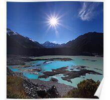 Sunburst over Aoraki from Kea Point - New Zealand Poster