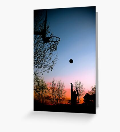 Hoops. Greeting Card