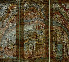 Dream Interrupted Triptych by Sarah Vernon