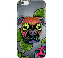 Day of the Dead Boxer Sugar Skull Dog iPhone Case/Skin