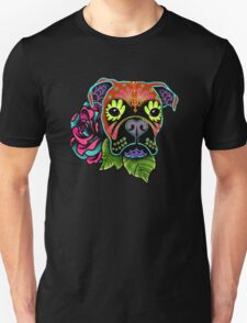 Day of the Dead Boxer Sugar Skull Dog T-Shirt