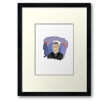 Man on Train Framed Print