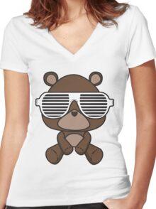 Boss Bear Women's Fitted V-Neck T-Shirt