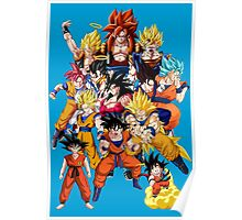 All Goku Forms Poster