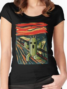 The cactilion scream Women's Fitted Scoop T-Shirt