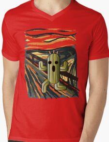 The cactilion scream Mens V-Neck T-Shirt