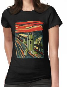 The cactilion scream Womens Fitted T-Shirt