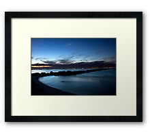 Blue On Dusk Framed Print