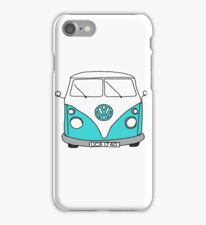 Retro Blue VW Van iPhone Case/Skin