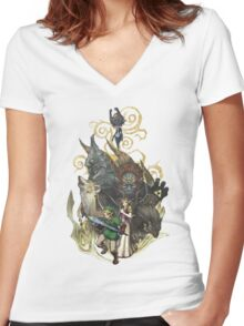 Zelda Women's Fitted V-Neck T-Shirt
