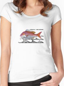 snapper - tribal waves Women's Fitted Scoop T-Shirt