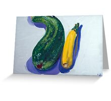 Two zucchini - comment on relationship Greeting Card