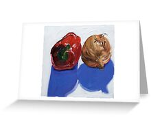 Pepper and onion (2) Greeting Card