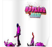 Pixelated Hotline Miami Poster