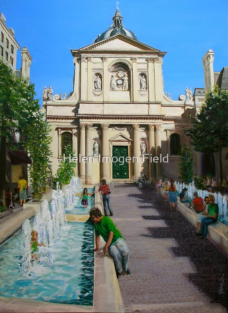 La Sorbonne, Paris, on a very hot day by Helen Imogen Field