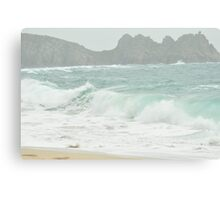 Angry waves Porth Leven, West Cornwall, Canvas Print