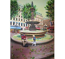 Paris - Fountain near l'Opera Photographic Print