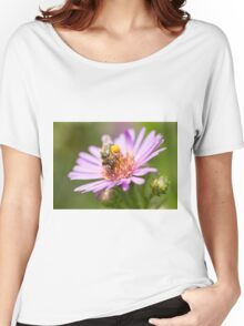 Cute bee on an Aster Women's Relaxed Fit T-Shirt