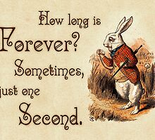 Alice in Wonderland Quote - How Long is Forever - White Rabbit Quote - 0104 by ContrastStudios