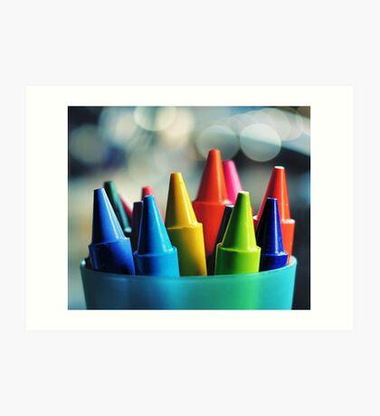crayons.. Art Print