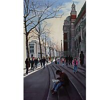 Leaving the Victoria and Albert museum - early Spring in London Photographic Print