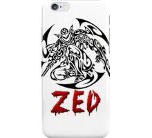 Zed Tribal iPhone Case/Skin