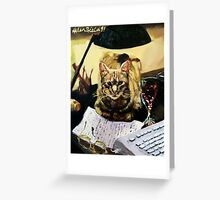 Writer's Cat  Greeting Card