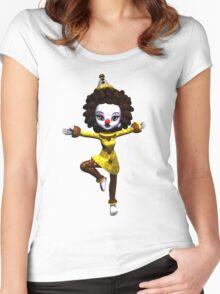Dancing Clown Women's Fitted Scoop T-Shirt