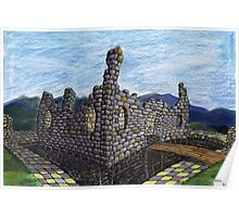 206 - FANTASY CASTLE - COLOURED PENCILS - 2008 Poster
