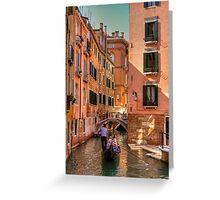 Gondola on the Rio Fuseri Greeting Card