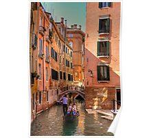 Gondola on the Rio Fuseri Poster