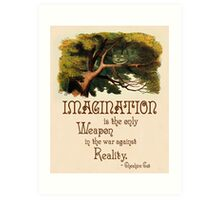 Alice in Wonderland Quote - We're All Mad Here - Cheshire Cat Quote - 0245 Art Print