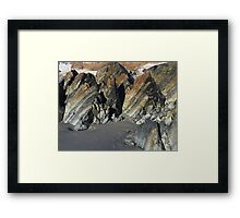 Tortured Geology Framed Print