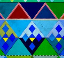 Cobalt blue diamond pattern Sticker