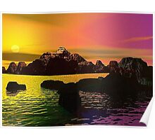 A Colorful Sunset Poster