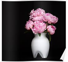 A bouquet of Peonies Poster