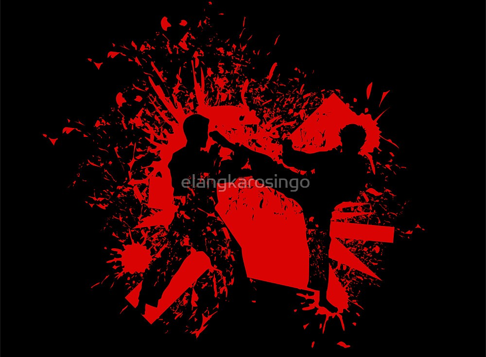 The Bloody Duel of Taekwondo fighters by elangkarosingo