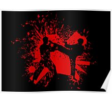 The Bloody Duel of Taekwondo fighters Poster