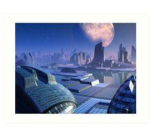 Stargate City Art Print