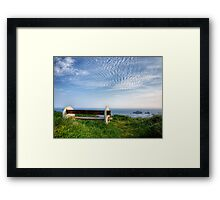 A Seat with a View - Alderney Framed Print