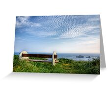 A Seat with a View - Alderney Greeting Card