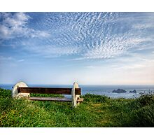 A Seat with a View - Alderney Photographic Print