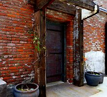 The Door to the Clam Cannery Hotel ~ Port Townsend by Elaine Bawden