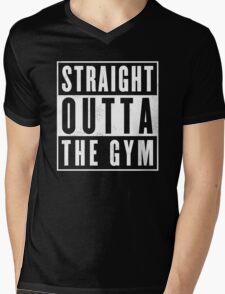 Straight outta thr Gym Mens V-Neck T-Shirt