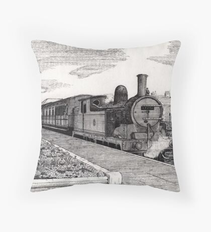 197 - STEAM TRAIN AT BLYTH (INK) 1994 Throw Pillow