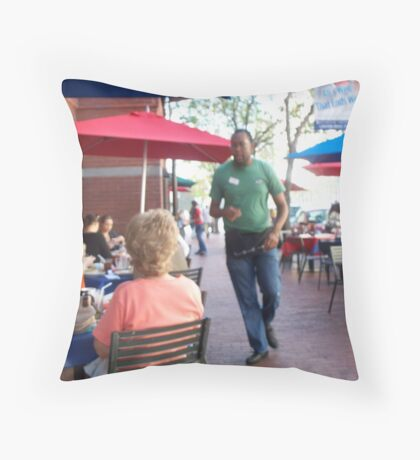 DC Cafe Throw Pillow