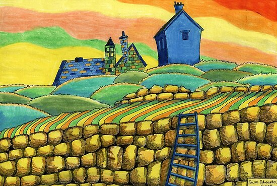 204 - SEATON SLUICE - 02 - COLOURED PENCILS - 2008 by BLYTHART