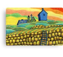 204 - SEATON SLUICE - 02 - COLOURED PENCILS - 2008 Canvas Print