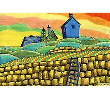 204 - SEATON SLUICE - 02 - COLOURED PENCILS - 2008 Photographic Print